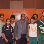 Geo with High School Women Basketball Team