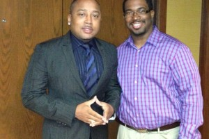 With the People's Shark Daymond John