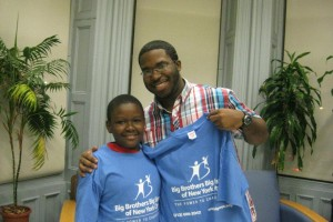 Geo meeting his little from Big Brothers Big Sisters NYC