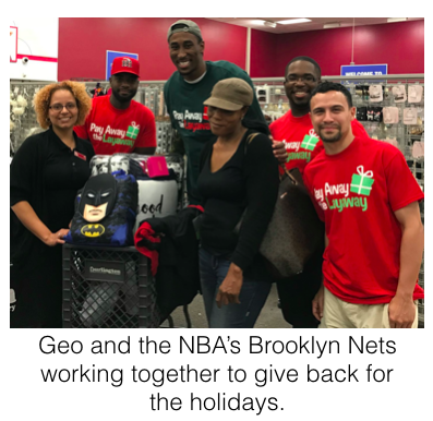 Geo and the NBA's Brooklyn Nets working together to give back for the holidays.