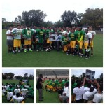 Geo delivers inspiring message to SpringField Gardens H.S. Football Team
